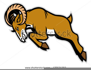 Rams Charging Clipart.