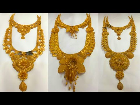 #Asanur143 antique long necklace jewellery design,rani haar gold jewellery.