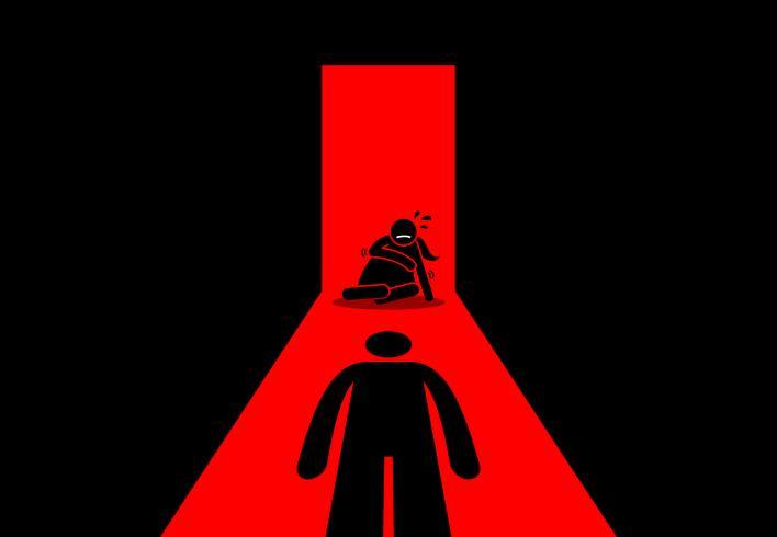 Abusive husband beating and rape his wife..