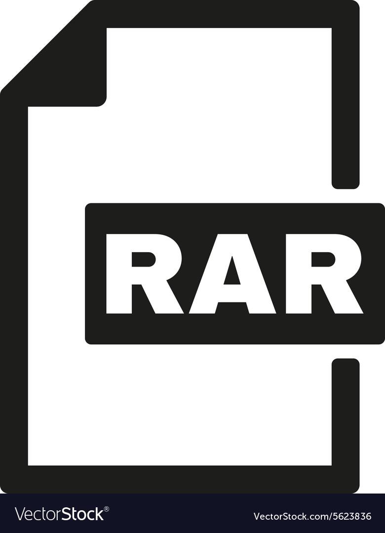The RAR file icon Archive and compressed symbol.