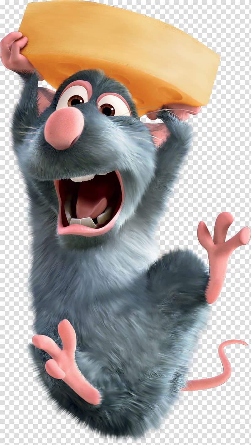 Rat carrying cheese, Ratatouille Film Animation Pixar , rat.