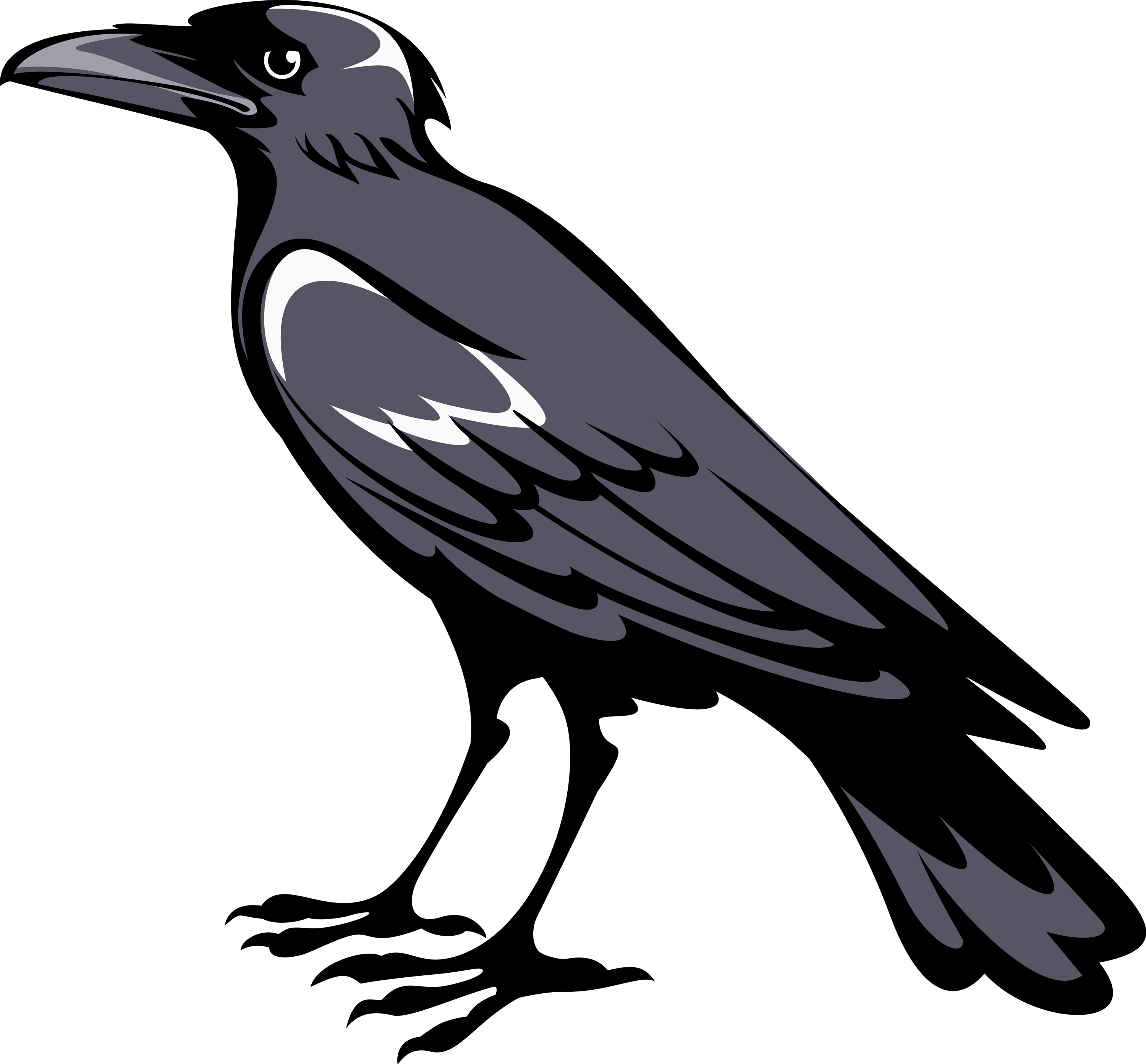 Raven Clipart Side View.