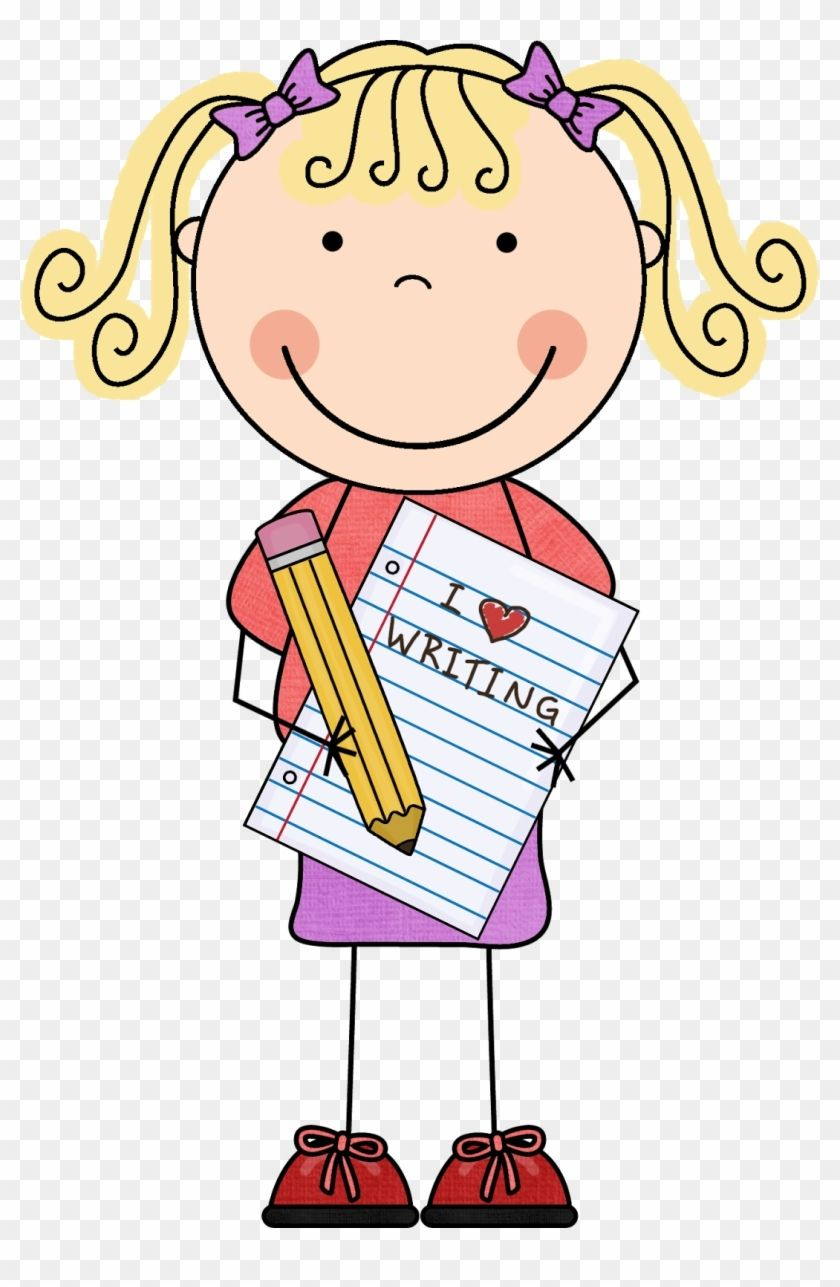 Girl Writing Clipart.