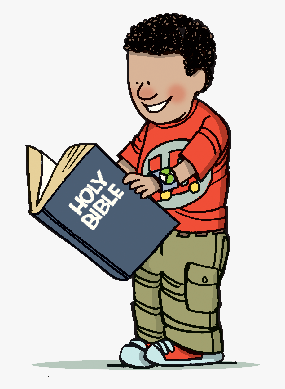 Family Reading Bible Clipart.