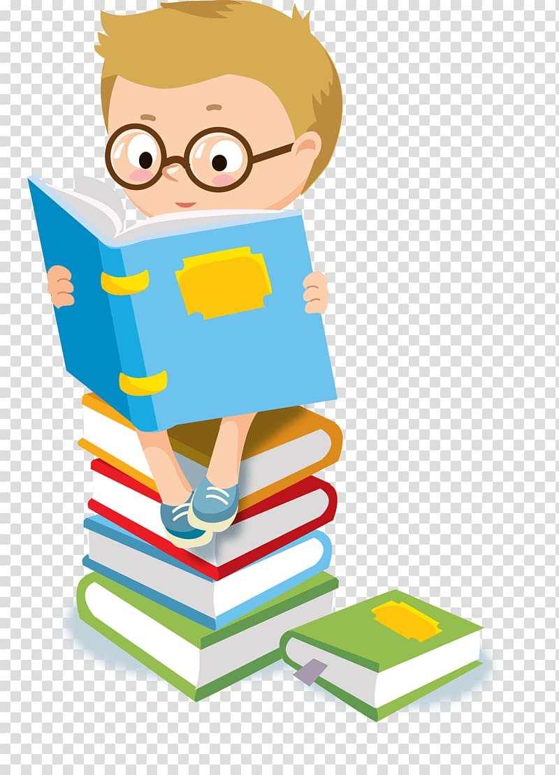 Child Reading , child transparent background PNG clipart.