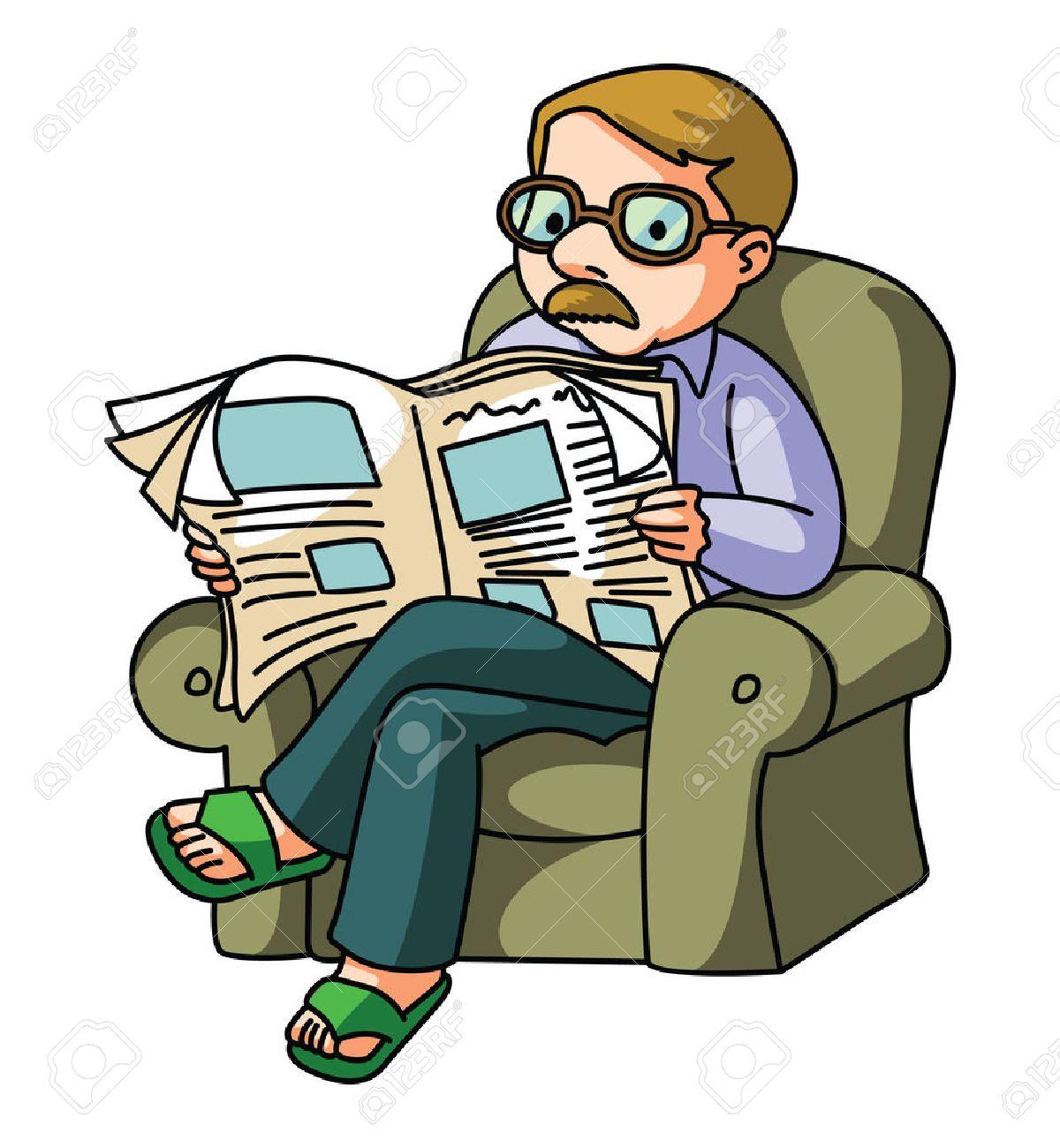 Man Read NewsPaper.