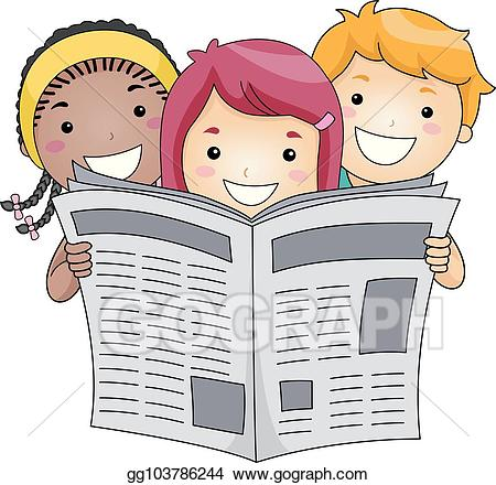 clipart reading newspaper #18