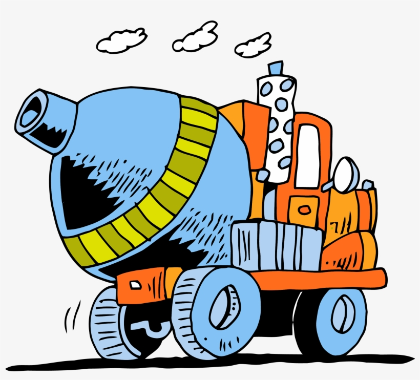 Cement Truck Going Clipart Png.