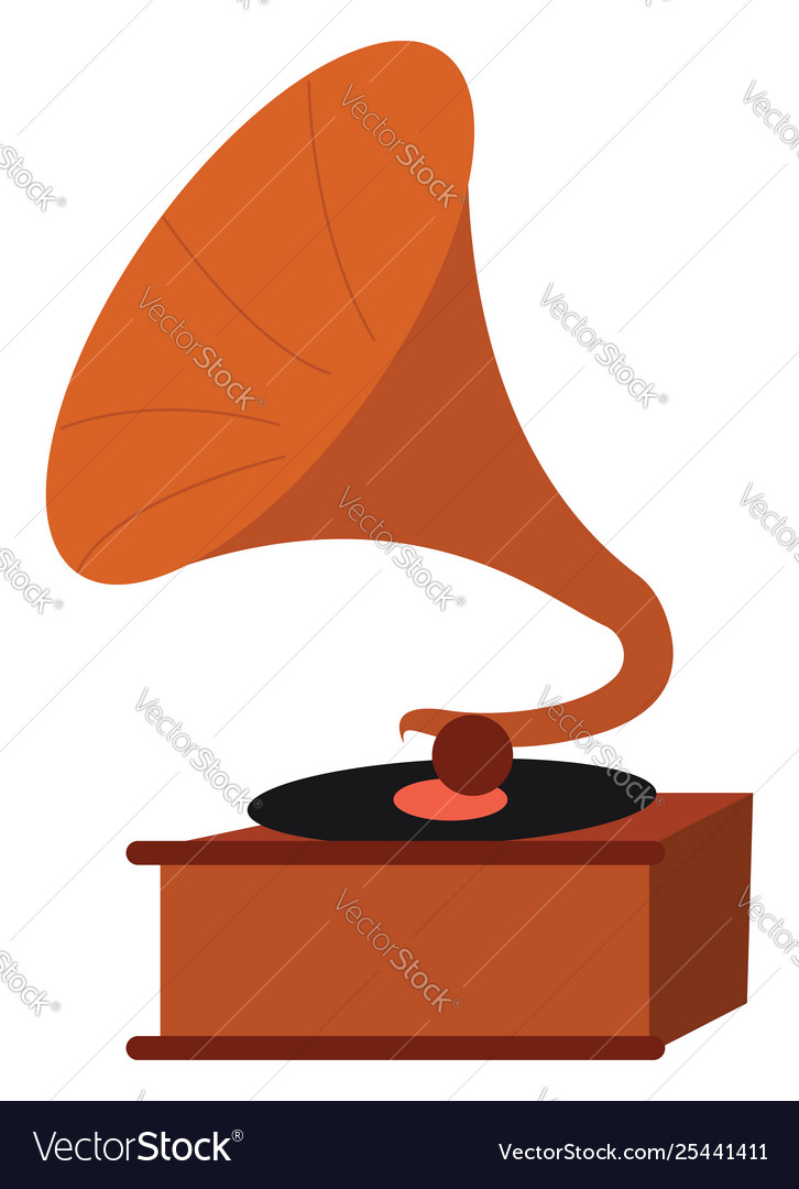 Clipart brown record player.