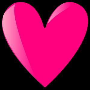 Hot Pink Heart Clipart.