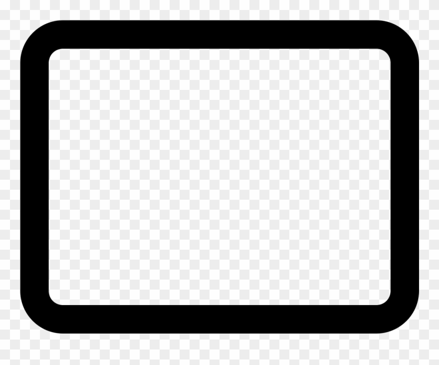 Rounded Rectangle Stroked Icon.