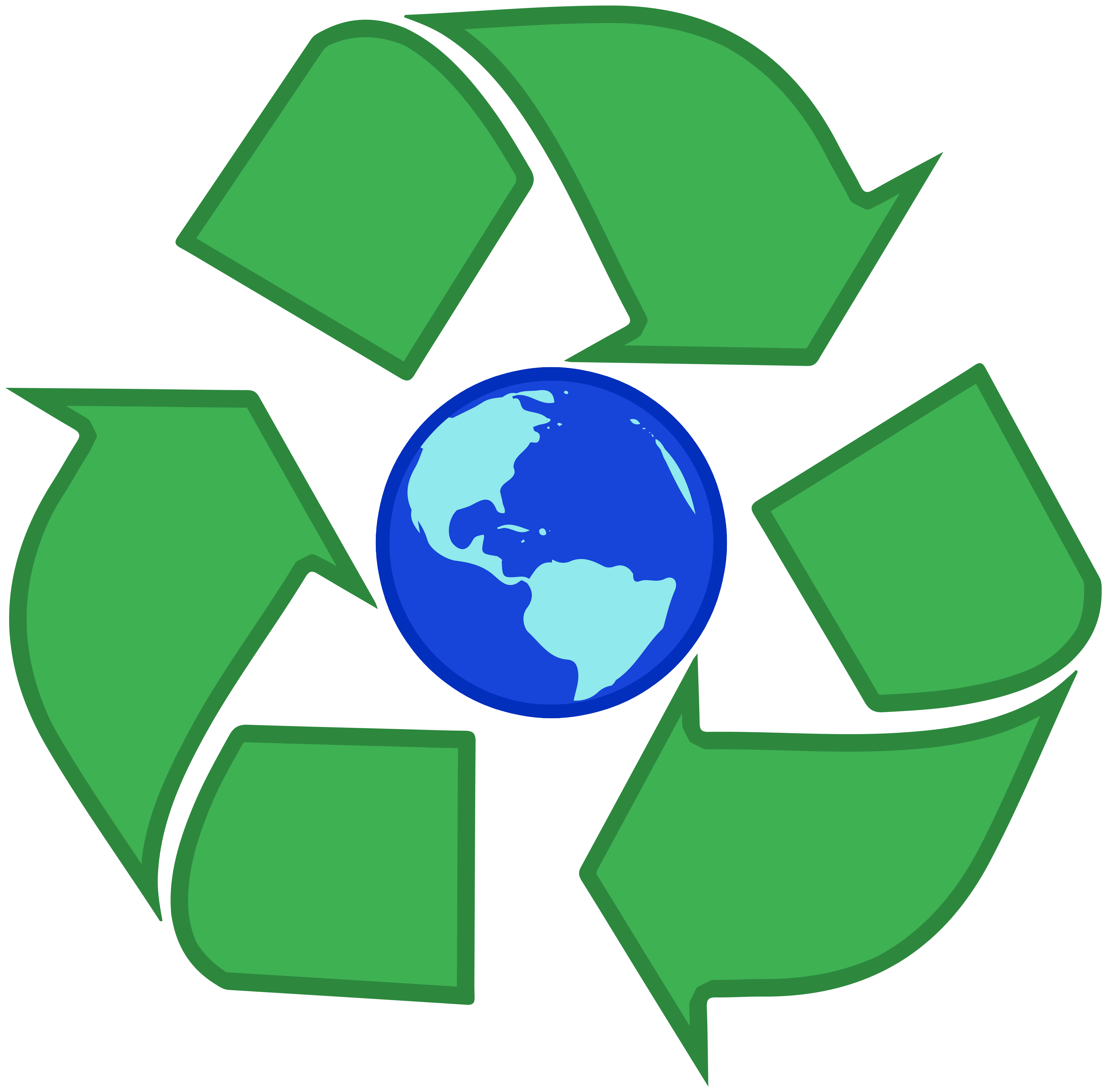 Recycle Earth PNG Clipart.