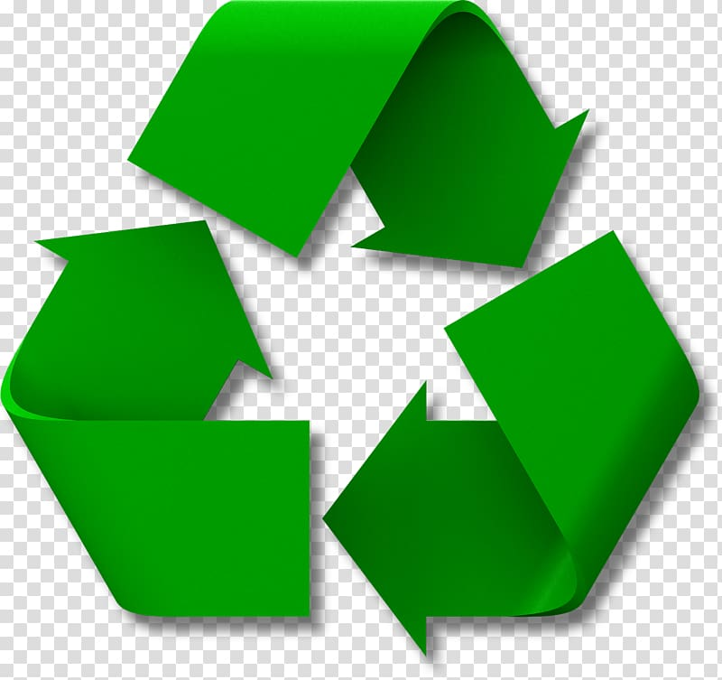 Green recycle icon, Recycling bin Waste container Recycling.