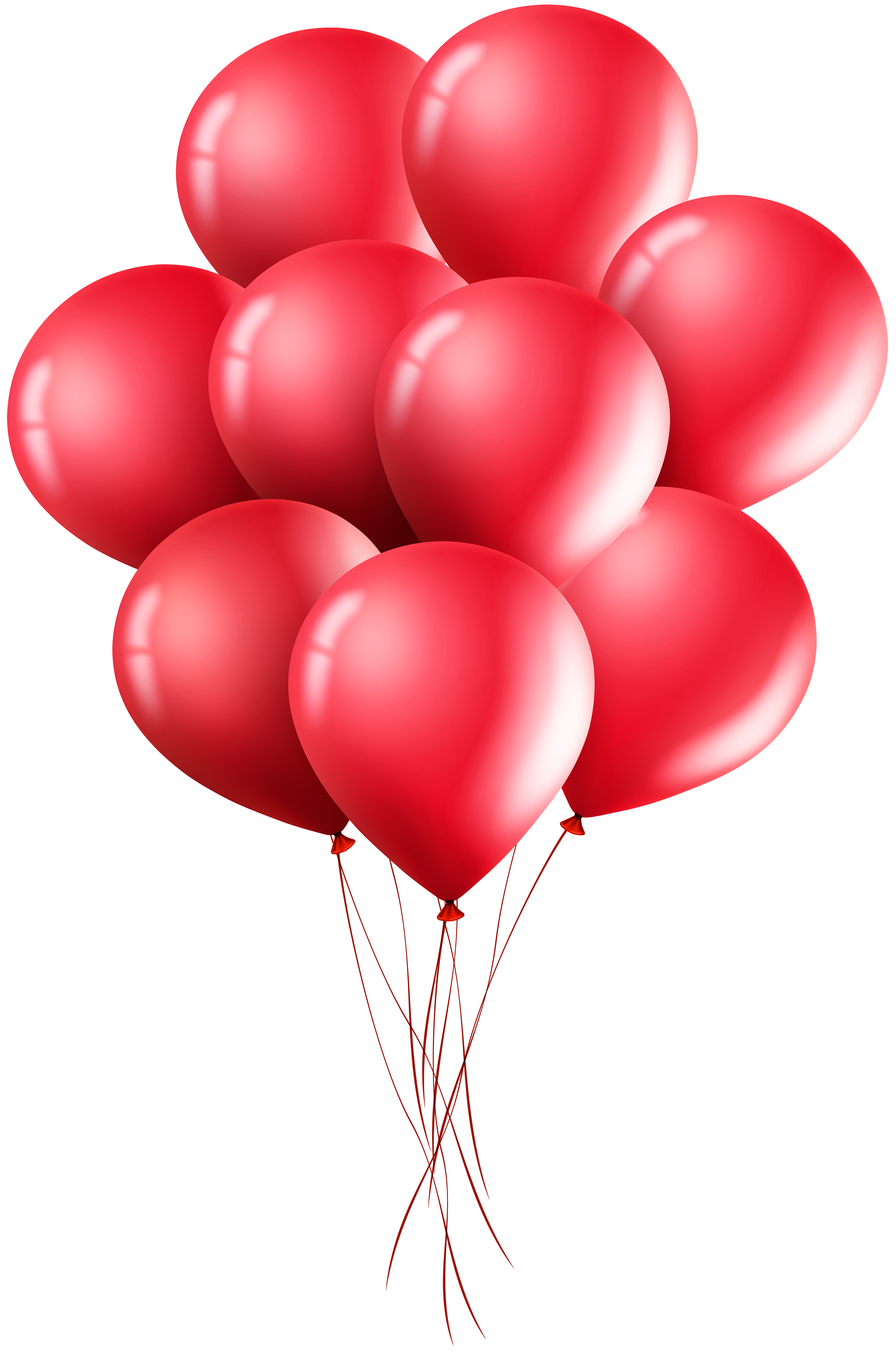 Red Balloons PNG Clip Art Image.