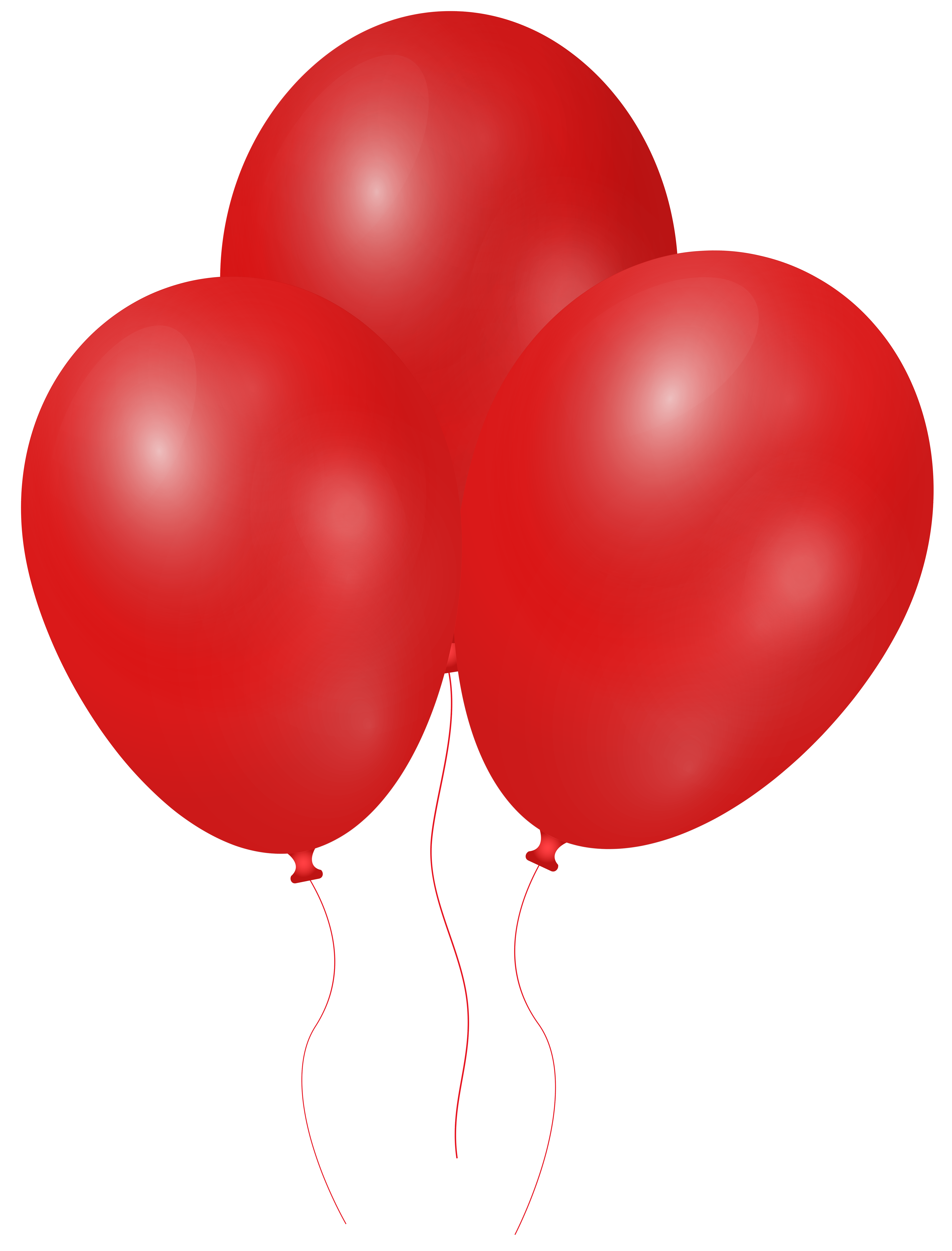 Red Balloons PNG Clipart.