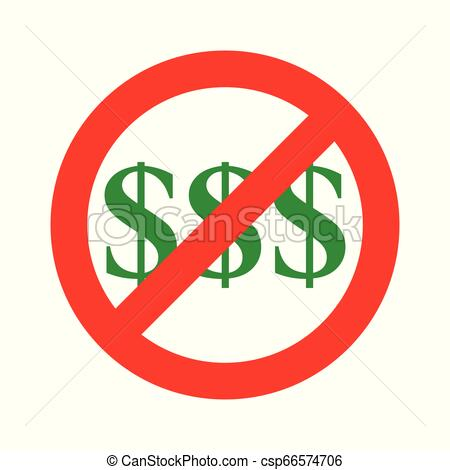 No Money Symbol.