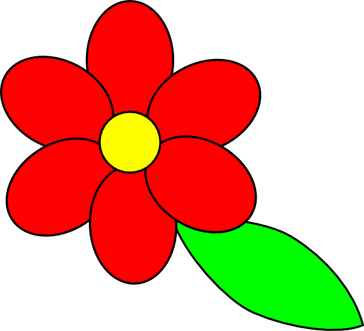 Red flower clipart 4 » Clipart Station.