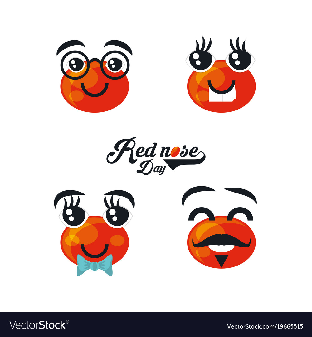 Red nose day design.