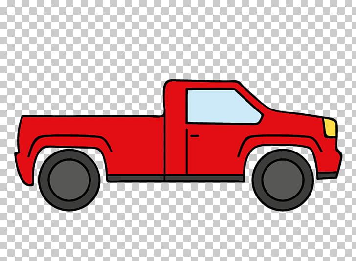 Car Pickup truck Van, Creative cartoon red truck PNG clipart.