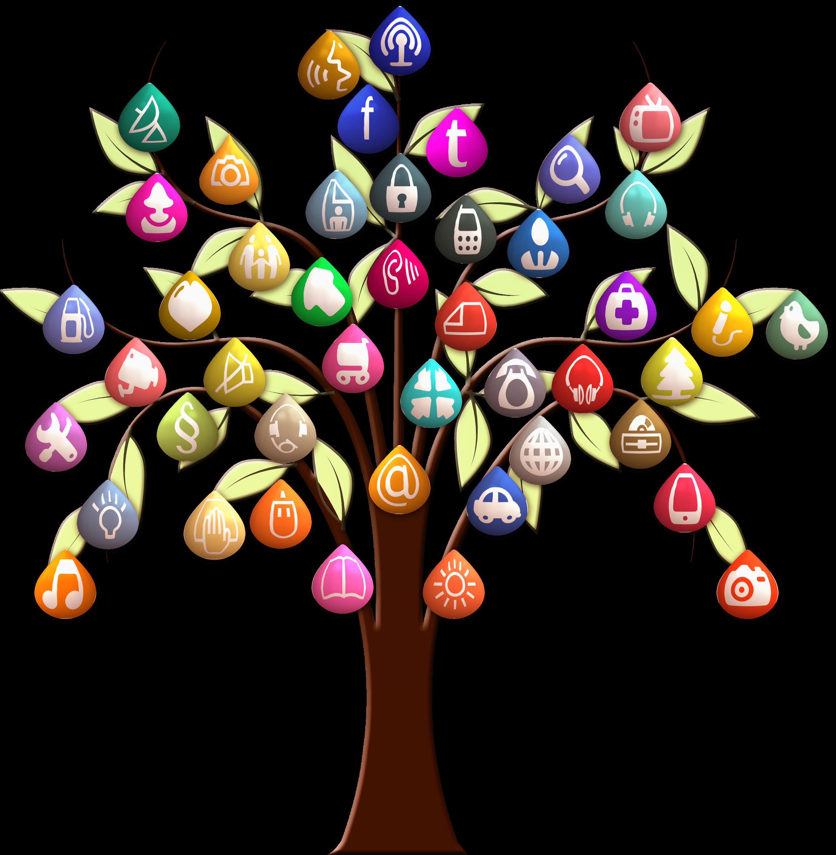Social Media Icon Tree Png.
