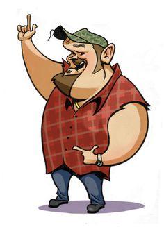 Redneck cartoon clipart.