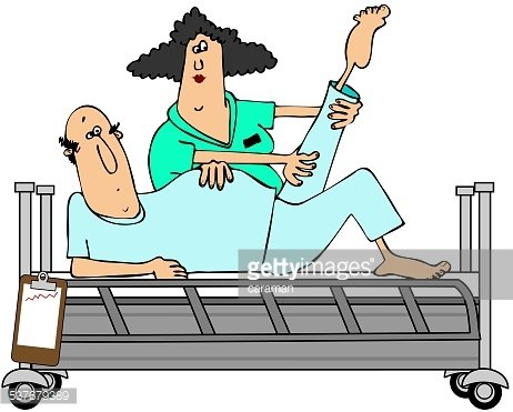 Patient in rehab Clipart Image.