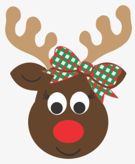 Free Reindeer Face Clip Art with No Background.