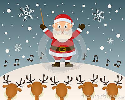 Christmas Carol With Reindeer Royalty Free Stock Photo.