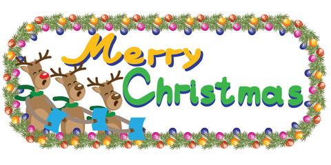 Funny reindeer singing Christmas carols, holding sheet music, with.