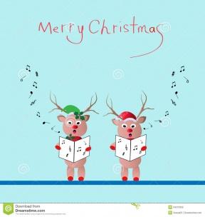SALE Christmas Clip Art. Reindeer Watercolor Clipart. Snowflake.