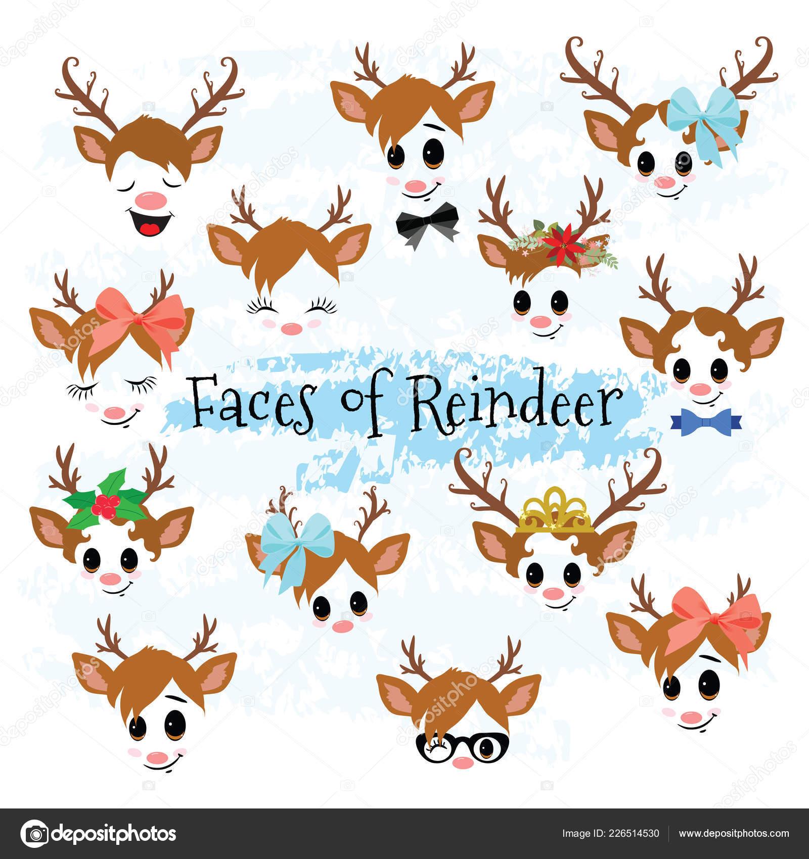 Clipart: clip art reindeers.