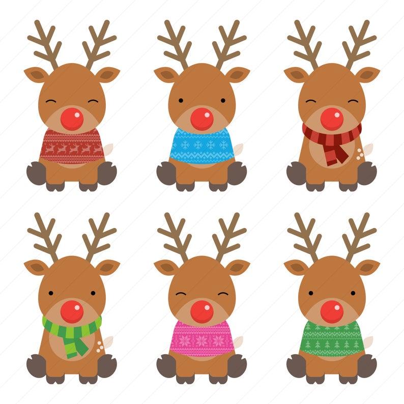 Reindeer Clipart / Christmas Clipart / Christmas Reindeer Clipart.