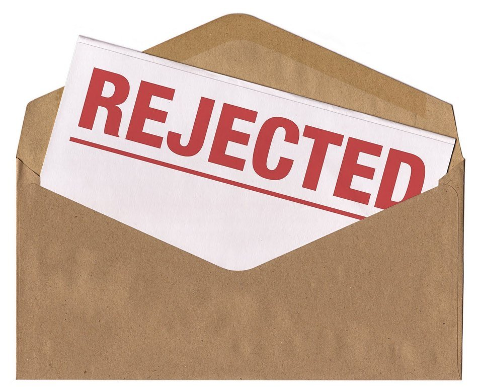 Clipart of the rejected letter free image.