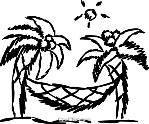 Relaxing at the Beach Royalty Free Vector Clip Art.