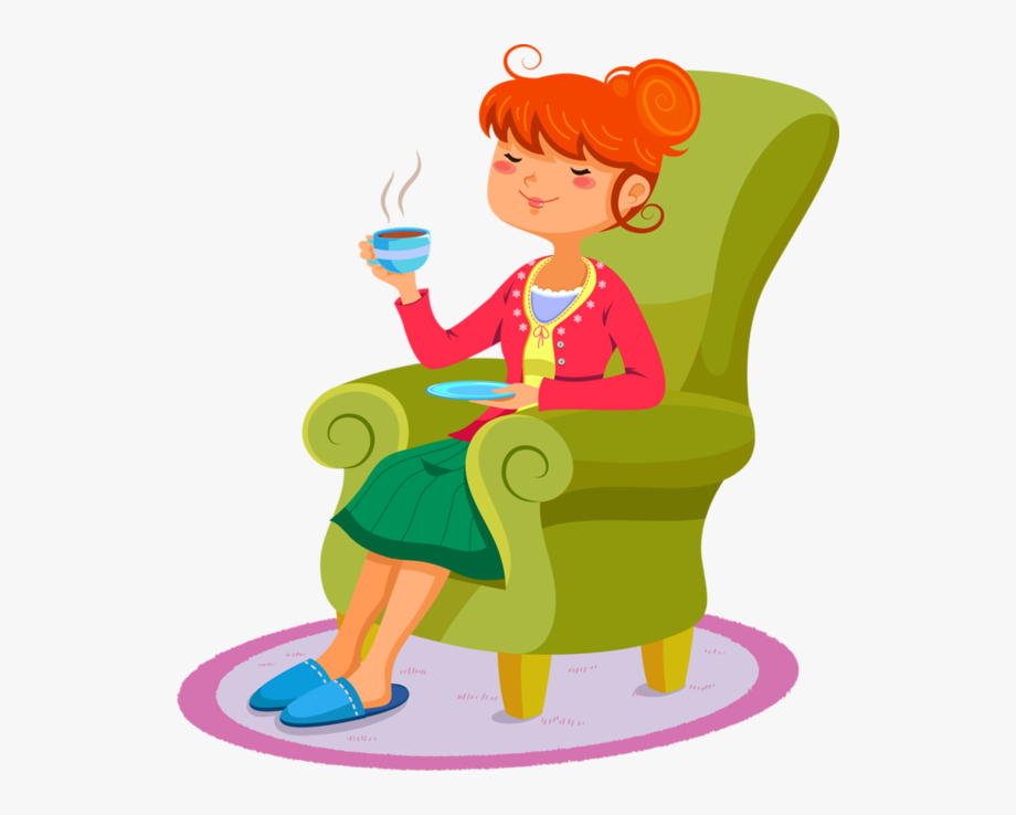 Free Clipart Woman Relaxing , Transparent Cartoon, Free.