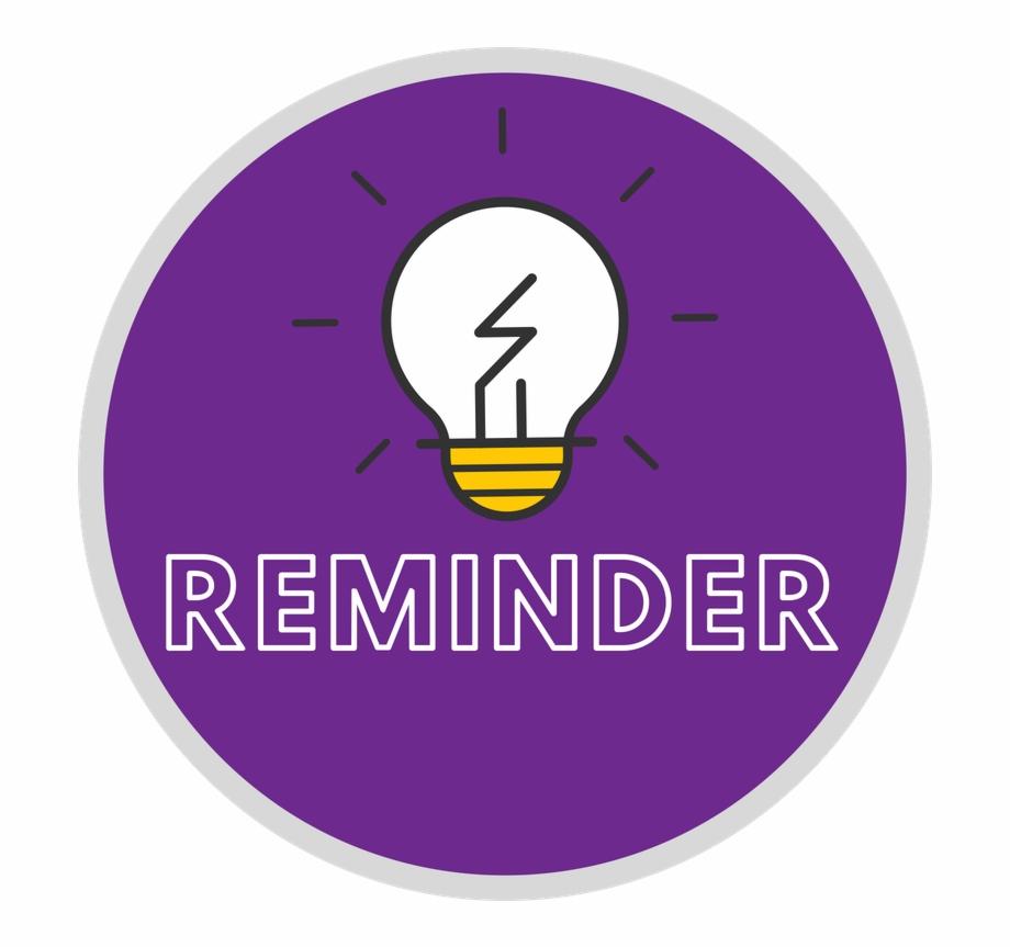 Purple Reminder Icon.