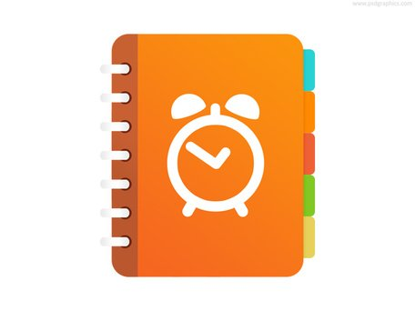 Free Reminder application icon (PSD) Clipart and Vector Graphics.