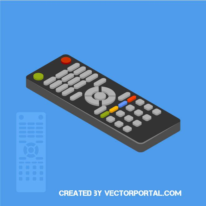 Remote control 3D vector clip art.