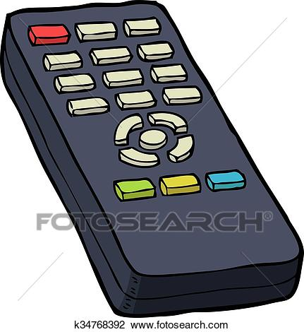 TV remote control Clipart.