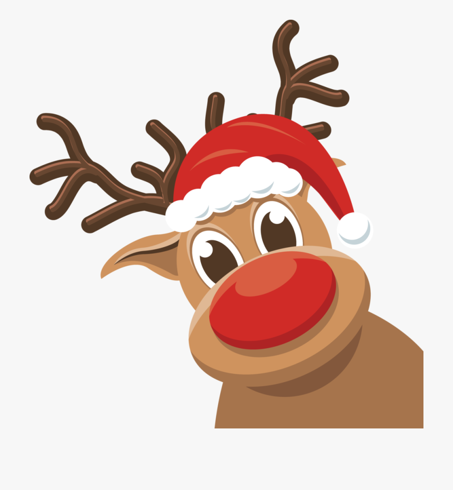 Weihnachten Rudolph Rentier, Cliparts & Cartoons.