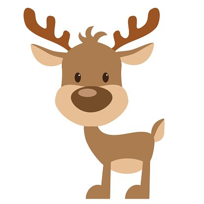 Reindeer vector illustration Clipart Image.
