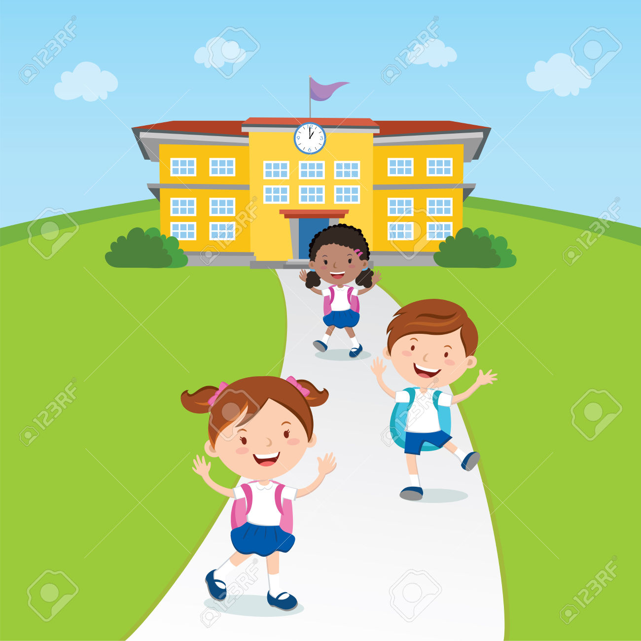 Going Home From School Clipart.
