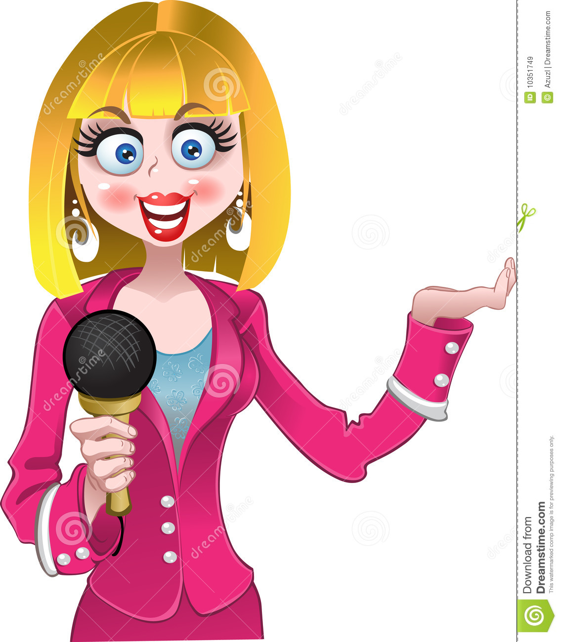 Boy Girl News Reporter Clipart Free.