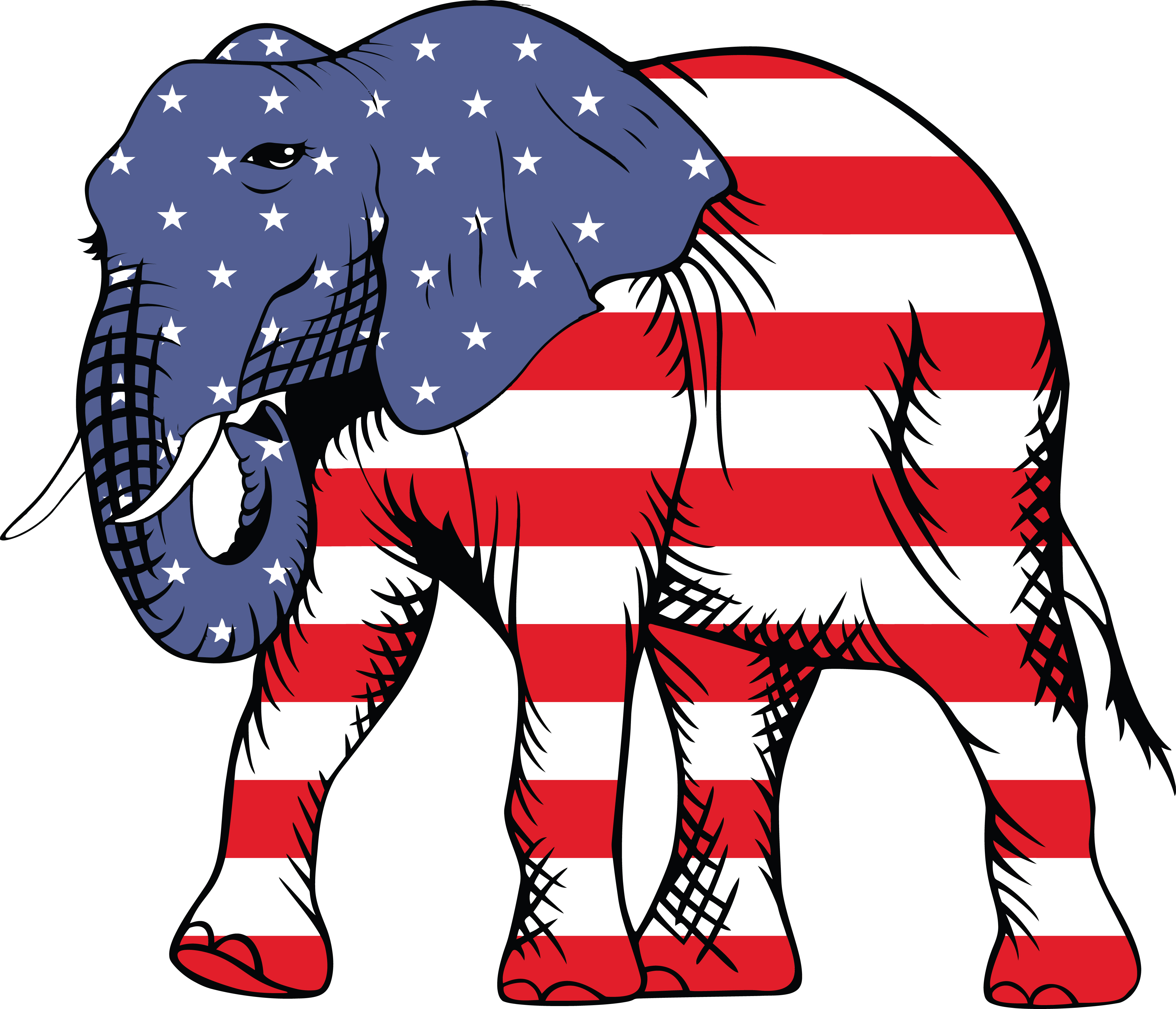 Free Clipart Of A republican elephant.