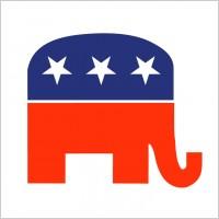 Republican elephant vector.