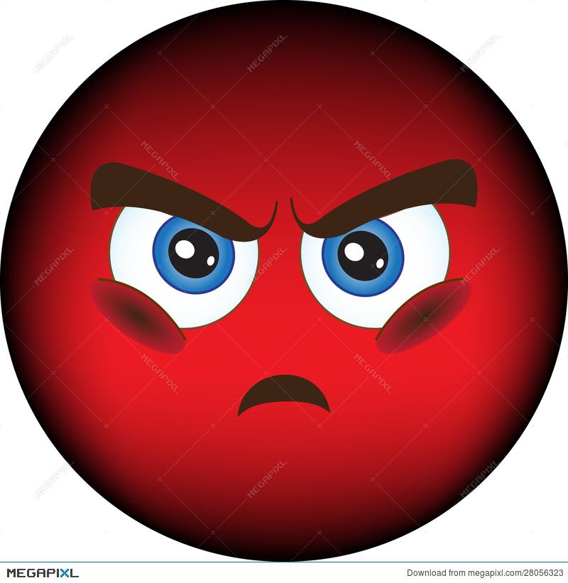 Smiley, Resentment, Anger Illustration 28056323.