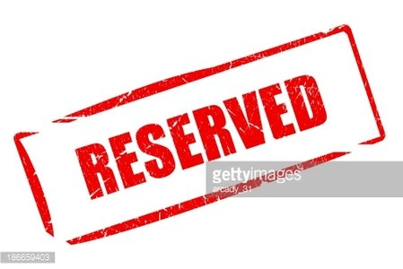 Reserved stamp Clipart Image.