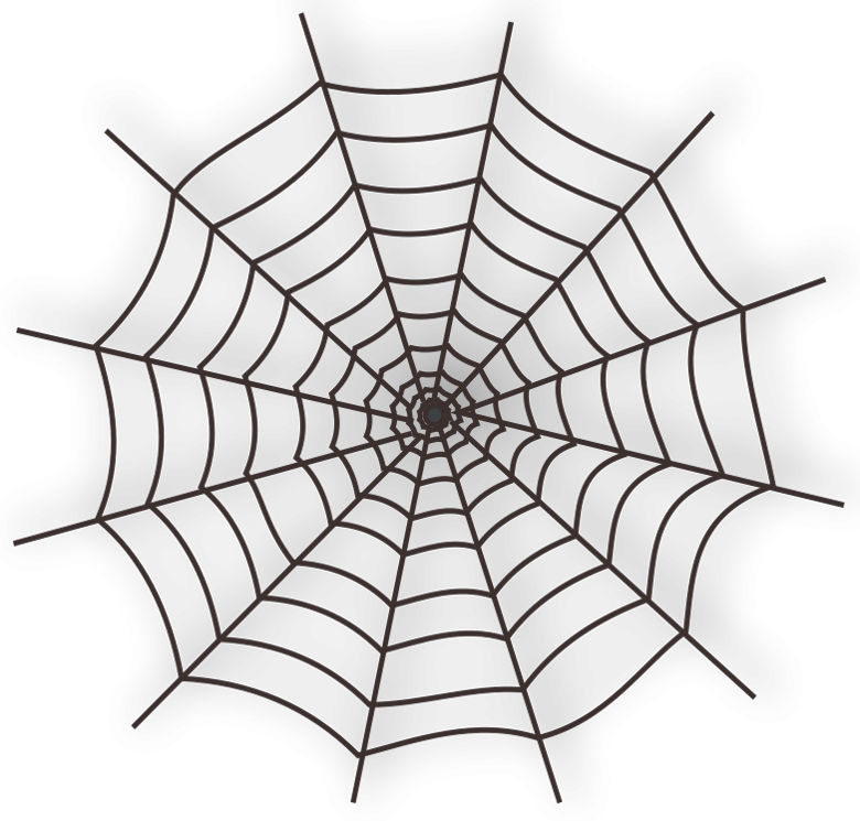Large Haunted Spider Web PNG Clipart.