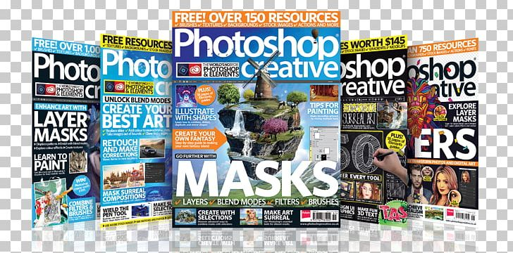 Graphic Design Magazine Photoshop Creative Banner Poster PNG.