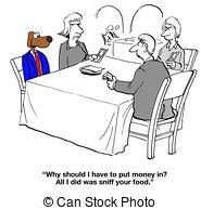 Splitting restaurant bill Clip Art and Stock Illustrations.